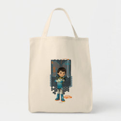 Grocery Tote with Miles Callisto Space Explorer design