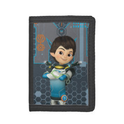 TriFold Nylon Wallet with Miles Callisto Space Explorer design