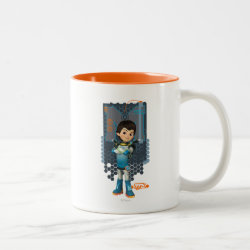 Two-Tone Mug with Miles Callisto Space Explorer design