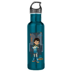 Water Bottle (24 oz) with Miles Callisto Space Explorer design