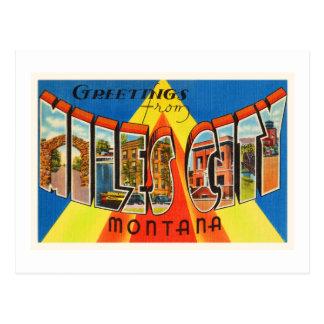 Miles City Montana MT Old Vintage Travel Souvenir Postcard