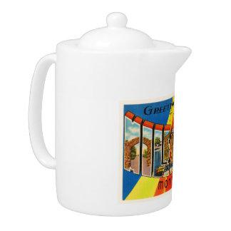 Miles City Montana MT Old Vintage Travel Souvenir Teapot