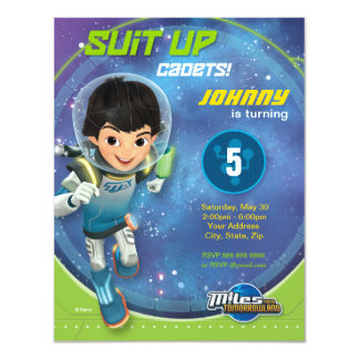 Miles From Tomorrowland 4.25x5.5 Paper Invitation Card