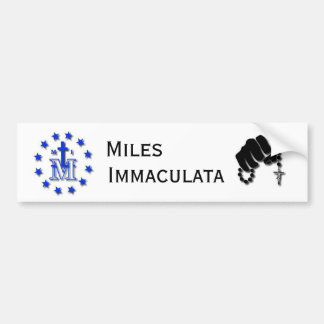 Miles Immaculata Bumper Sticker