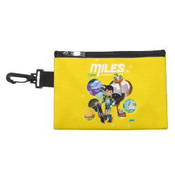 Clip On Accessory Bag with Miles and Merc Intergalactic Voyages design