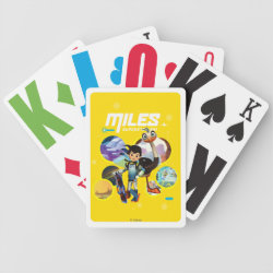 Playing Cards with Miles and Merc Intergalactic Voyages design