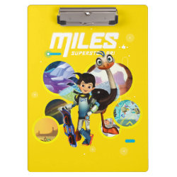 Clipboard with Miles and Merc Intergalactic Voyages design