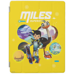 iPad 2/3/4 Cover with Miles and Merc Intergalactic Voyages design