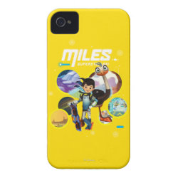 Case-Mate iPhone 4 Barely There Universal Case with Miles and Merc Intergalactic Voyages design