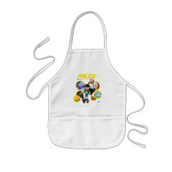 Kid's Apron with Miles and Merc Intergalactic Voyages design