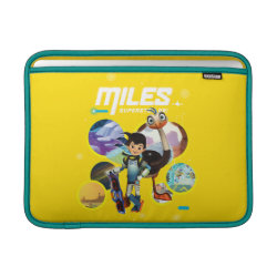 Macbook Air Sleeve with Miles and Merc Intergalactic Voyages design