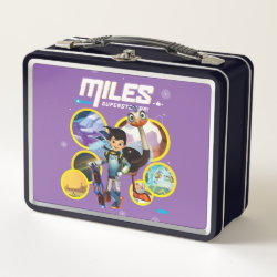 Metal Lunch Box with Miles and Merc Intergalactic Voyages design
