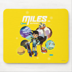 Mousepad with Miles and Merc Intergalactic Voyages design