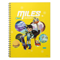 Photo Notebook (6.5' x 8.75', 80 Pages B&W) with Miles and Merc Intergalactic Voyages design