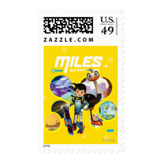 Miles Superstellar & MERC Robotic Sidekick Postage Stamp