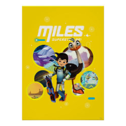 Matte Poster with Miles and Merc Intergalactic Voyages design