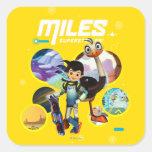 Miles Superstellar & MERC Robotic Sidekick Square Sticker