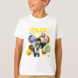 Kids' Hanes TAGLESS® T-Shirt with Miles and Merc Intergalactic Voyages design