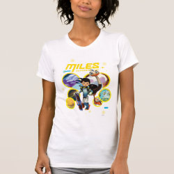 Women's American Apparel Fine Jersey Short Sleeve T-Shirt with Miles and Merc Intergalactic Voyages design
