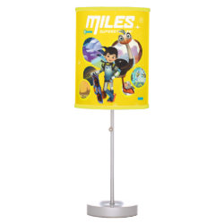 Table Lamp with Miles and Merc Intergalactic Voyages design