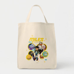 Grocery Tote with Miles and Merc Intergalactic Voyages design