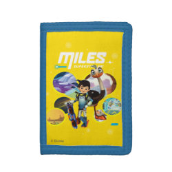 TriFold Nylon Wallet with Miles and Merc Intergalactic Voyages design