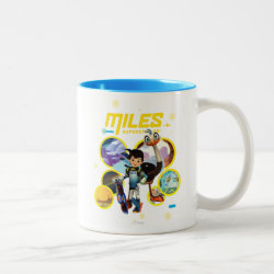 Two-Tone Mug with Miles and Merc Intergalactic Voyages design