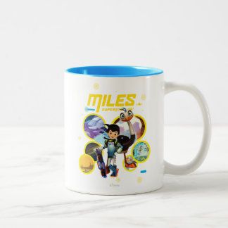 Miles Superstellar & MERC Robotic Sidekick Two-Tone Coffee Mug