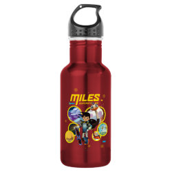 Water Bottle (24 oz) with Miles and Merc Intergalactic Voyages design