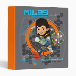 Avery Signature 1' Binder with Miles from Tomorrowland Blastastic design