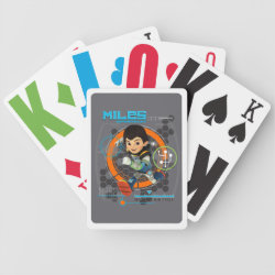 Miles Superstellar Running Graphic Bicycle Playing Cards