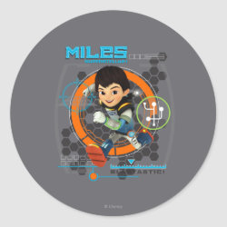 Miles Superstellar Running Graphic Classic Round Sticker