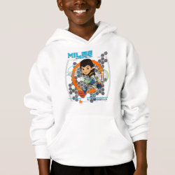 Girls' American Apparel Fine Jersey T-Shirt with Miles from Tomorrowland Blastastic design