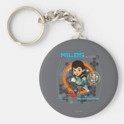 Basic Button Keychain with Miles from Tomorrowland Blastastic design