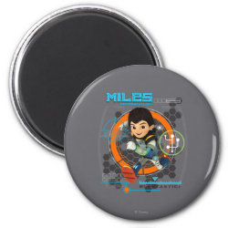 Miles Superstellar Running Graphic Magnet