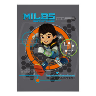 Miles Superstellar Running Graphic Poster