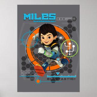 Miles Superstellar Running Graphic Poster