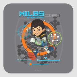 Square Sticker with Miles from Tomorrowland Blastastic design
