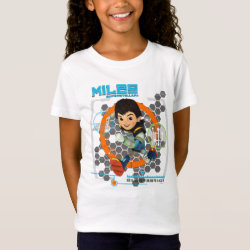 Girls' Fine Jersey T-Shirt with Miles from Tomorrowland Blastastic design