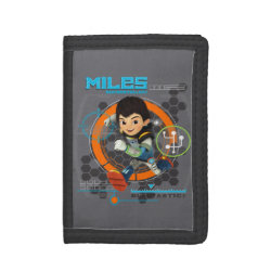 TriFold Nylon Wallet with Miles from Tomorrowland Blastastic design