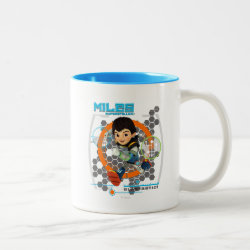 Two-Tone Mug with Miles from Tomorrowland Blastastic design