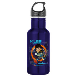 Water Bottle (24 oz) with Miles from Tomorrowland Blastastic design