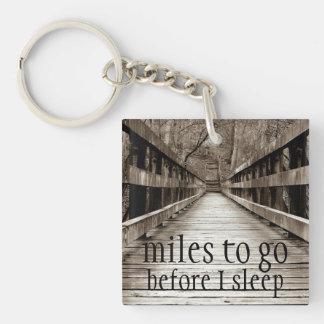 """Miles to Go Before I Sleep"" Keychain"