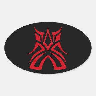 Miles - Vampire Favorite Oval Sticker