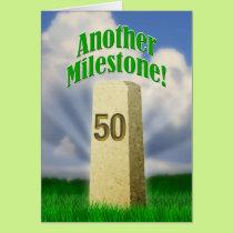 Milestone 50 card