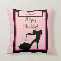 """Milestone Birthday"" Pink Pillow"