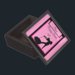 "&quot;Milestone Birthday&quot; Sweet 16 Premium Gift Box<br><div class=""desc"">An elegant black heel on a pink background. Add your name and customize the message: 18,  21,  30,  bride-to-be,  or just about anything!</div>"