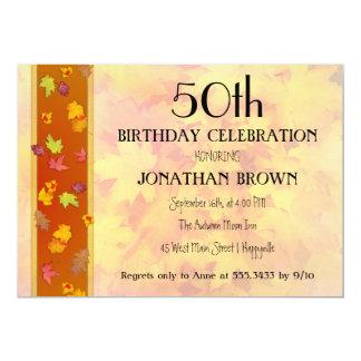 Milestone Fall Birthday Party Celebration Card