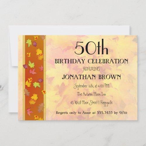 Milestone Fall Birthday Party Celebration Invitation
