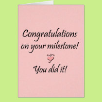 Milestone (From both) Card